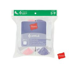 Hanes Women's Ankle Cushion Breathable Socks Size 5-9 (Special Value Packs)