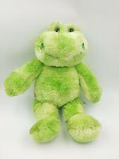 Plush Stuffed Animal Frog BAB Build A Bear Clover Green 12in