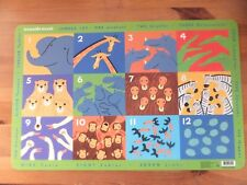 Crocodile Creek Jungle 123 Eat and Learn Animal Counting Placemat BNWOT