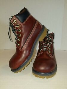 Timberlands Brown Leather Boots Youth Size 1M 19723