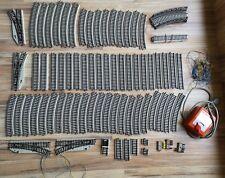 Märklin H0 Schienen + Weichen + Schaltpult Konvolut M-Gleis Blech-Gleise