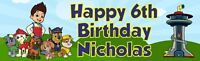 "PERSONALIZED PAW PATROL BIRTHDAY BANNER 36 ""x 11"" - ANY NAME, ANY AGE"