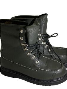 Men's 8.5 D Black Leather Cabela's Work Boots Gore-Tex Thinsulate Vibram Gumlite