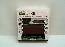 New Burgandy dreamGEAR Nintendo DSi XL 20 in 1 Starter Kit Case Stylus Earbuds