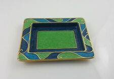 Jewish Matchbox Holder Tray (Blue/Green) by Quest Collection