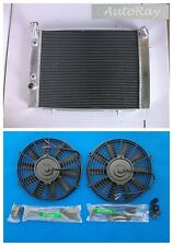 Aluminum Radiator for Holden Commodore VB VC VH VK V8 AT/MT+2 Thermal Fans 79-85
