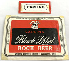 Vintage Carling Black Label Bock Beer Bottle Can Label Cleveland Ohio 12 Oz Goat