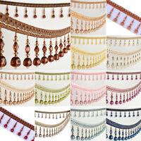 1m Curtain Sewing Fringe Trim Tassel Bead Lace Accessory Elegant Pendant Ribbon