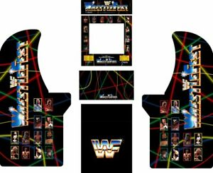 Arcade1up Arcade Cabinet Graphic Decal Complete Kits - WrestleFest