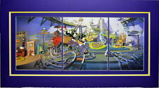 ANIMANIACS - INSIDE THE WATER TOWER PRINT PROFESSIONALLY MATTED 20 x 36
