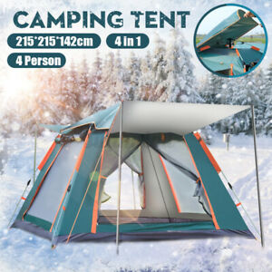 Automatic Quick Open Camping Outdoor Tent Waterproof Double Layer 4 Persons AUS