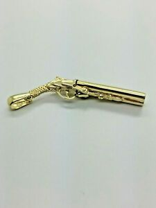 9ct Yellow Solid Gold Shot Gun Pendant