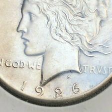 New Listing1926 Peace Silver Dollar Double Date Neck Reverse Doubling Branches Errors