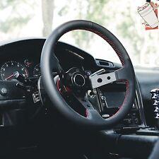 BMW E30 M3 - STEERING WHEEL GENUINE LEATHER RED STITCH VIILANTE TOURISMO 350mm