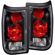FOR 1986-1993 MAZDA B2000 PICKUP TAIL LIGHTS BLACK PAIR LH+RH
