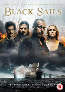 Black Sails: The Complete Collection DVD (2017) Toby Stephens cert 15 14 discs