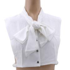 Sleevele Shirt Neck Tie Detachable Dot Butterfly Adjustable Fake Collars G