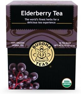 Elderberry Tea by Buddha Teas, 18 tea bag 1 pack