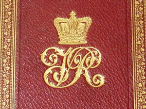 1888 Book Owned by HRH Queen Victoria Special Prize Binding ROYAL Cypher VR