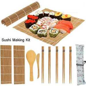 9Pcs Diy Sushi Maker Set Rice Roll Mold Kitchen Sushi Making Tool Kit For Home