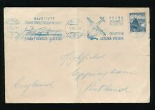 CZECHOSLOVAKIA 1937 AIRMAIL AIRCRAFT SLOGAN MACHINE CANCEL in BLUE