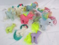 "Vintage 1980's My Little Pony MLP Unicorns and One Pony  Lot of 9  ""Z"""