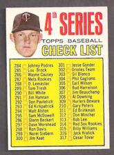 1967 Topps Jim Kaat 4th Series Checklist #278 High Grade unmarked