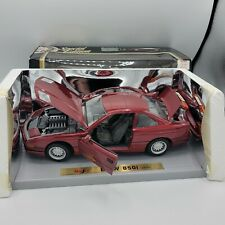 1990 BMW 850i - 1:18 Scale  RED Maisto Special Edition Diecast Model