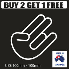 The Shocker Car Sticker 100mm - funny joke decal