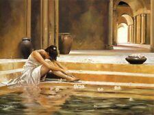 Healing Water by Ron Di Scenza Art Print Female Bath Poster 31.5x23.5