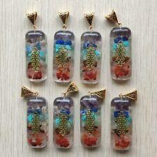 Retro Colorful natural stone 7 colors pillar cuboid pendants wholesale 8pcs/lot