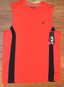Fila Sport Performance Muscle Tank Sleeveless Tee Mens Accent Stripe MSRP $30.00