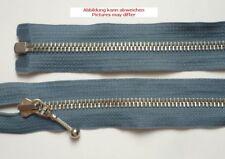 Opti  Reißverschluss Metall teilbar Schmuckschieber 80 cm blaugrau
