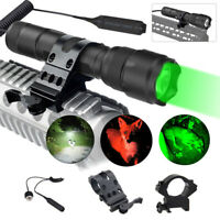 Hunting Flashlight Weapon Lamp Low Profile Weaver Picatinny Rail & Offset Mount