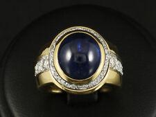 Wunderschöner Brillant Saphir Ring ca. 9,40ct 16,2g 750/- Gelbgold/Weißgold