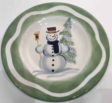 Set of 3 Tabletops Unlimited Holiday España Hand Painted Snowman Salad Plates & TableTops Unlimited Ceramic Dinnerware Plates   eBay