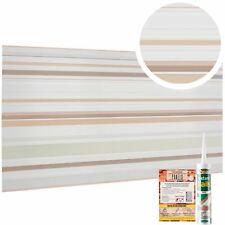 Kitchen Splashback Panels With Sparkling Glitter Elements With Lines & Stripes