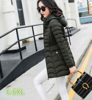 Women Winter Hooded Jacket Cotton Plus Size Warm Coat Ladies Outwear L-6XL