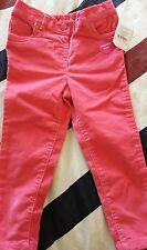 New & tags NUTMEG Girls Peachy Orange corduroy Trousers 1 1/2 - 2 years 86 -92cm