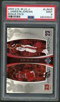 LeBron James Michael Jordan 2005 Upper Deck Bonus Basketball Card #LJMJ5 PSA 9