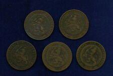 NETHERLANDS  2 1/2 CENT COINS: 1880, 1884, 1886, 1890,.