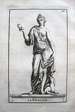 LA FIDÉLITÉ DIE TREUE ALLEGORIE S.THOMASSIN 1694 VERSAILLES FEDELTÀ FIDELITY