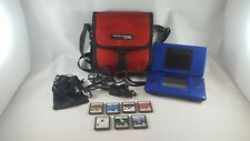 Nintendo DS Blue Handheld System,7 games,carrying case,car charger, Mod# NTR-001