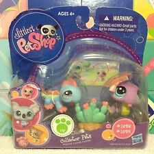 Littlest Pet Shop Purple SNAKE & Teal Blue IGUANA 1828 1829 NEW w/ 1 FREE PET