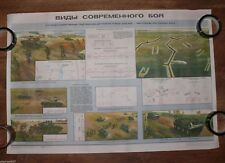 Authentic Soviet USSR Cold War Military Poster Military Strategy and Tactics #