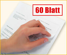 60 Blatt Rechnungspapier mit integriertem Etikett / Papier mit Etikett