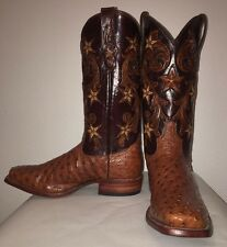 Tony Lama Men's Brandy Cowboy Classic Ostrich Boot
