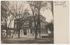 1908 Rochester New Hampshire City Hall Rppc Rp Real Photo Postcard Nh Strafford