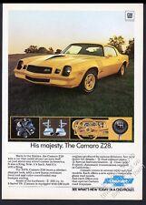 1978 Camaro Z28 yellow car photo Chevrolet Chevy vintage print ad