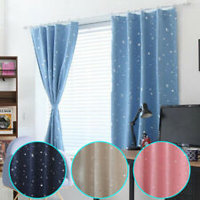 Star Window Blackout Curtains Thermal Insulated Drapes Children/Kids Room Decors